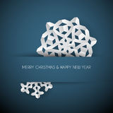 white paper christmas snowflake vector illustration