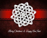White paper christmas snowflake Royalty Free Stock Images