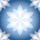 White Paper Christmas Snowflake. Seamless Pattern Stock Photography