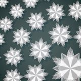 White Paper Christmas Snowflake. Vector Illustration Stock Image