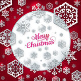 White paper christmas snowflake. EPS 10 Royalty Free Stock Photos