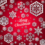 White paper christmas snowflake. EPS 10 Royalty Free Stock Images