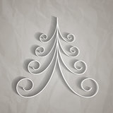 White paper christmas tree Royalty Free Stock Photo