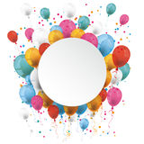 White Paper Circle Balloons Royalty Free Stock Photos