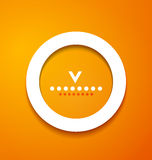 White paper circle on orange background Royalty Free Stock Image
