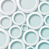 White paper circles background1. White paper circles on a light blue background vector illustration