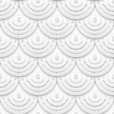 White paper circles seamless pattern Stock Images