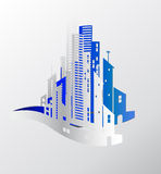 White Paper City Royalty Free Stock Photography