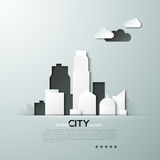 White paper city concept vector illustration Royalty Free Stock Photo