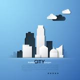 White paper city concept vector illustration Royalty Free Stock Photos