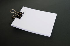 White paper. And clip on black background Stock Photos