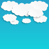 White paper clouds Royalty Free Stock Photography