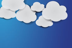 White paper clouds Stock Image
