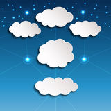 White Paper Clouds. Paper clouds vector illustration. Saved in EPS 10 with effects and transparencies Royalty Free Stock Images