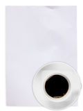 White paper with coffee Stock Image