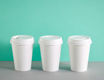 White paper coffee cups Stock Image