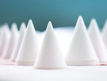 White paper cone for drinking water Royalty Free Stock Image