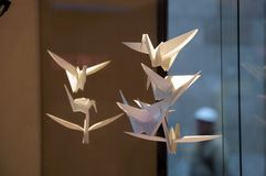 White paper cranes Royalty Free Stock Images