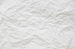 White paper crumpled texture. Background stock image