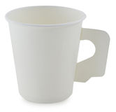 White Paper Cup close up Stock Photography