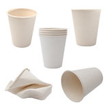 White Paper Cup close up stock image