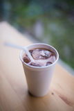 White paper cup of coffee Stock Photo