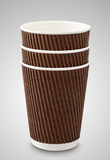 White paper cup for coffee. And tea Stock Image