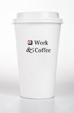 White Paper Cup With Text Concept Royalty Free Stock Image