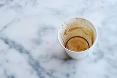 White Paper Cup on Top of Gray Marble Surface Stock Photos