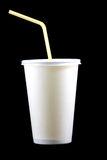 White paper cup with tube Royalty Free Stock Images