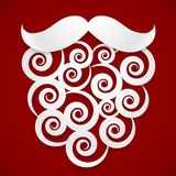 White paper curls Santa beard with shadow at dark Stock Photo