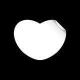 White paper cut love heart for Valentine`s day or any other Love invitation cards. Vector illustration Royalty Free Stock Photography