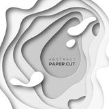 White paper cut shapes Royalty Free Stock Photo