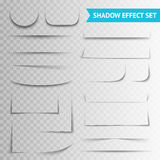 White Paper Cuts Transparent Shadow Set Stock Images