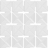White paper 3D alternating spiral connecting squares Stock Photo
