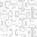 White paper 3D five striped wavy pin will rectangles. Paper white 3D geometric background. Seamless pattern with realistic shadow and cut out of paper effect royalty free illustration
