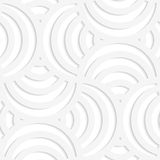 White paper 3D four stripes circle pin will Royalty Free Stock Images