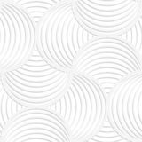 White paper 3D slim stripes circle pin will Stock Images