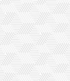 White paper 3D spiral connecting hexagons Royalty Free Stock Photography