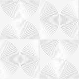 White paper 3D striped semi circles Stock Image