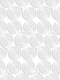 White paper 3D three spirals Stock Photo