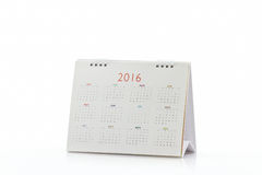 White paper desk spiral calendar 2016. Stock Images