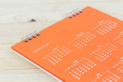 White paper desk spiral calendar 2017. Royalty Free Stock Image