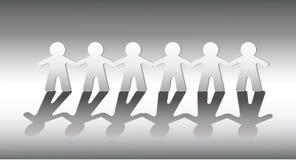 Teamwork holding hands concept vector stock illustration
