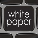 White Paper Download Online Information Advice Case Study. White paper words on a black computer keyboard key or button to download a document or case study with Royalty Free Stock Images