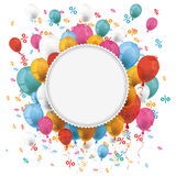 White Paper Emblem Balloons Percents Royalty Free Stock Photos
