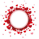 White Paper Emblem Hearts Background Royalty Free Stock Images