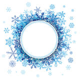 White Paper Emblem Snowflakes Background Royalty Free Stock Photo