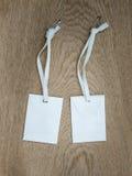 White paper envelopes with white  ribbon Stock Photo