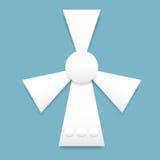 White paper fan Royalty Free Stock Photos